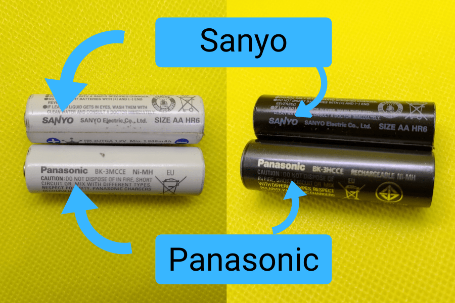 Sanyo vs Panasonic Eneloop batteries