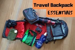 Travel backpack essentials