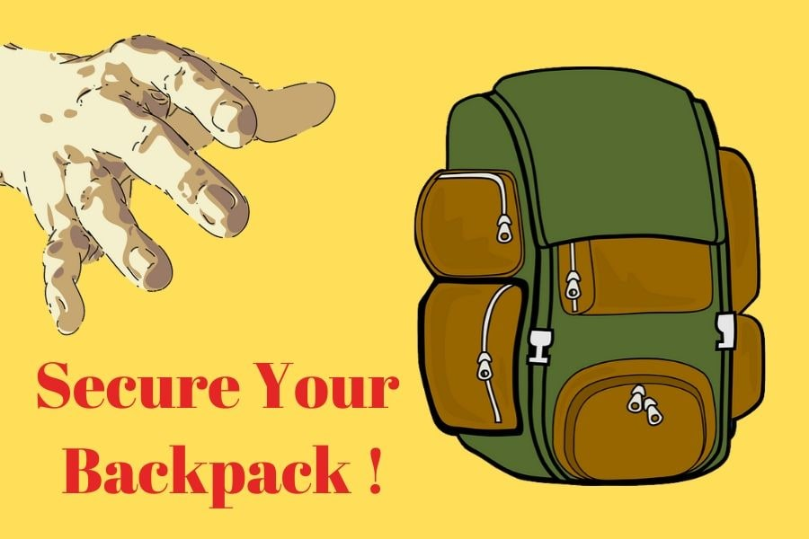 Travel Backpack Security