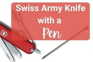Swiss Army Knife with Pen